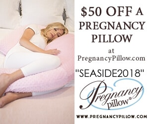 $50 off a pregnancy pillow - Canadian baby freebies with code SEASIDE2018 at pregnancypillow.com