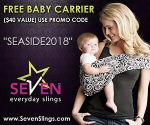 Free baby carrier - Canadian baby freebies with code SEASIDE2018 at sevenbaby.com