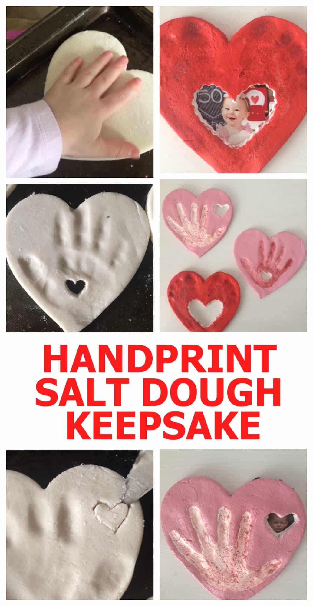 Heart-Shaped Hand print Photo Frames