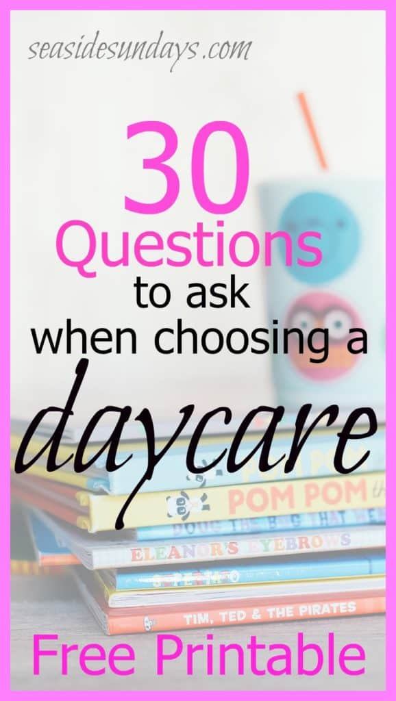 30 questions parents should ask a home daycare provider via www.seasidesundays.com