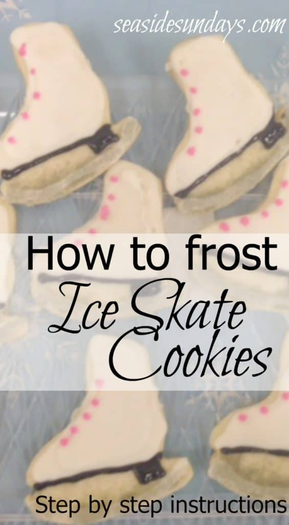 How To Make Ice Skate Party Cookies