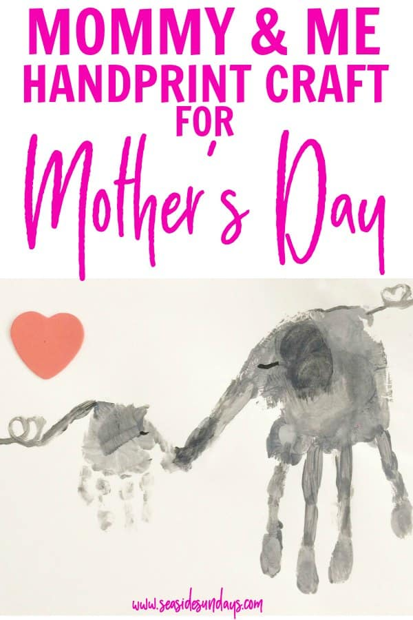 Mother's Day craft for preschoolers! This handprint craft is so cute and perfect for moms and babies to make together! Would make a great Mother's Day craft or framed picture. Simple toddler craft to make together, kids will love this fun activity