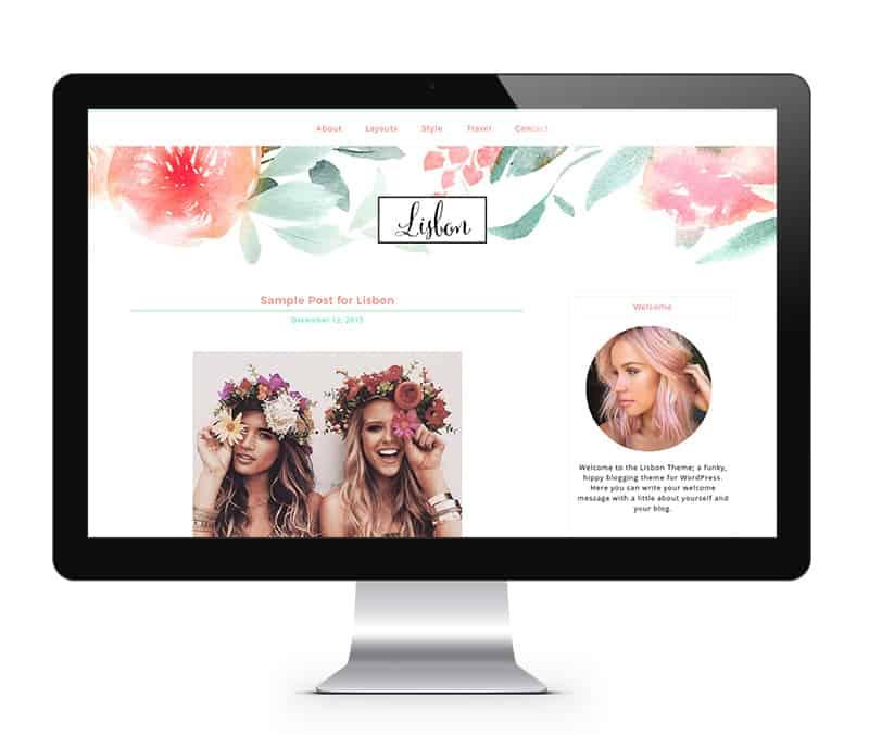 stylish feminine Genesis theme for WordPress