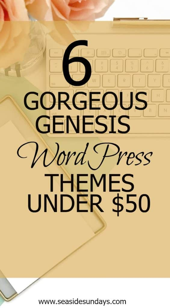 Looking for a beautiful, feminine WordPress theme for cheap? Check out this list of Genesis themes for under $50! Includes Genesis Framework, child theme and instructions. Great for bloggers and social media marketers.
