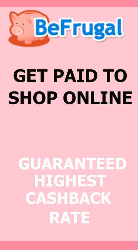 Love online shopping? Get paid the highest cash back guaranteed with BeFrugal. Better than Ebates! Tips to earn giftcards and money just by shopping! Combine with coupons. Great for Canada and US.