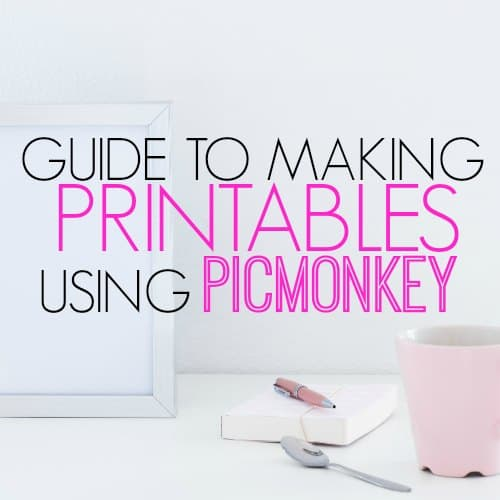 Make printables to sell on Etsy. This free tutorial is a step by step guide to making printables you can give away on your blog or sell online.