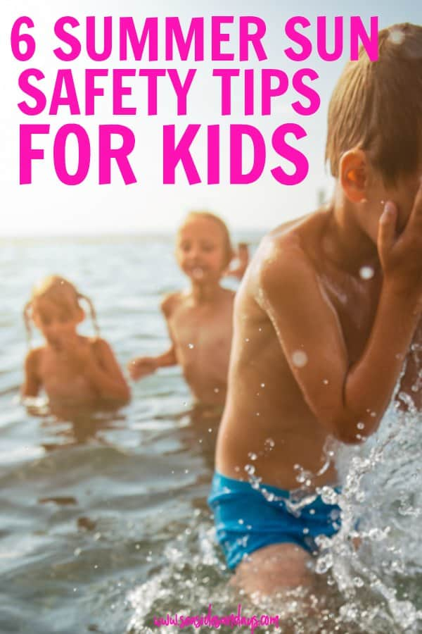 Tips for staying safe in the sun this summer. Summer tips for kids. How to make sure your kids don't get sunburned or dehydrated this summer vacation.