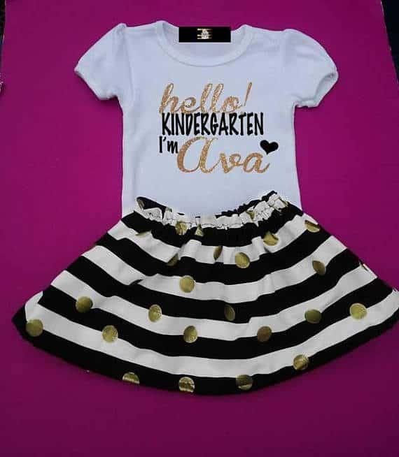 First day of Kindergarten dress for girls