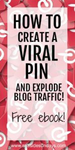 Want a viral pin? Grab this free ebook that will show you step by step how to create a pin that goes viral and gets tons of traffic quickly! Grow your Pinterest traffic and get more exposure for your pins with these tips and tricks. Tips on how to create the perfect pin description, what size should pins be on Pinterest. How to use keywords on Pinterest. How to find pinnable images and free stock photos. What size pins to use. This is a free course for bloggers who want to grow their traffic. #blogtraffic #pinterest