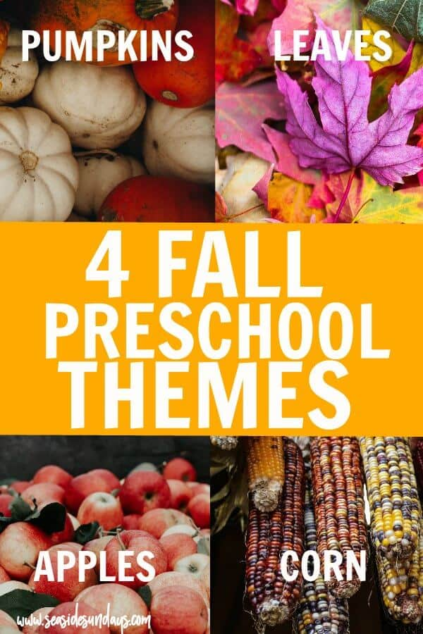 fall preschool themes - corn crafts, pumpkin crafts for kids, activities for kids about apples, books about leaves and corn. Lots of fall craft ideas and activities