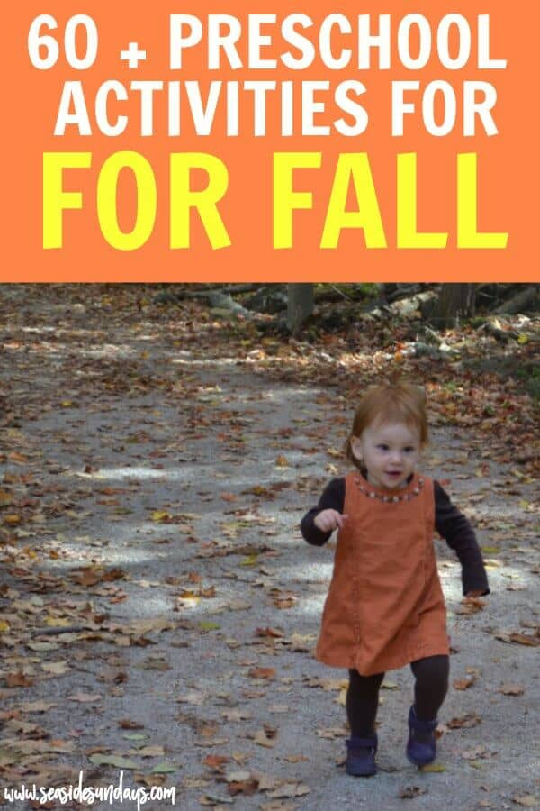 Fall preschool themes - apples, leaves, corn, farm and pumpkins. Books, outings and activities for each theme. This is a great list of frugal fall activities for toddlers and preschoolers. Most of these activities for kids are free or cheap! Have fun this autumn and make memories. Free printable checklist of things to do with the kids this fall. Apple picking, pumpkin patch, sensory bins, fall crafts, Halloween activities for kids. Fall baking and outdoor activities.