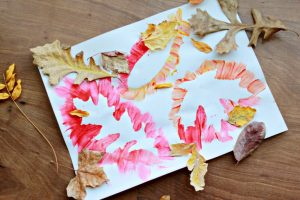 fall leaf painting -fall crafts for kids