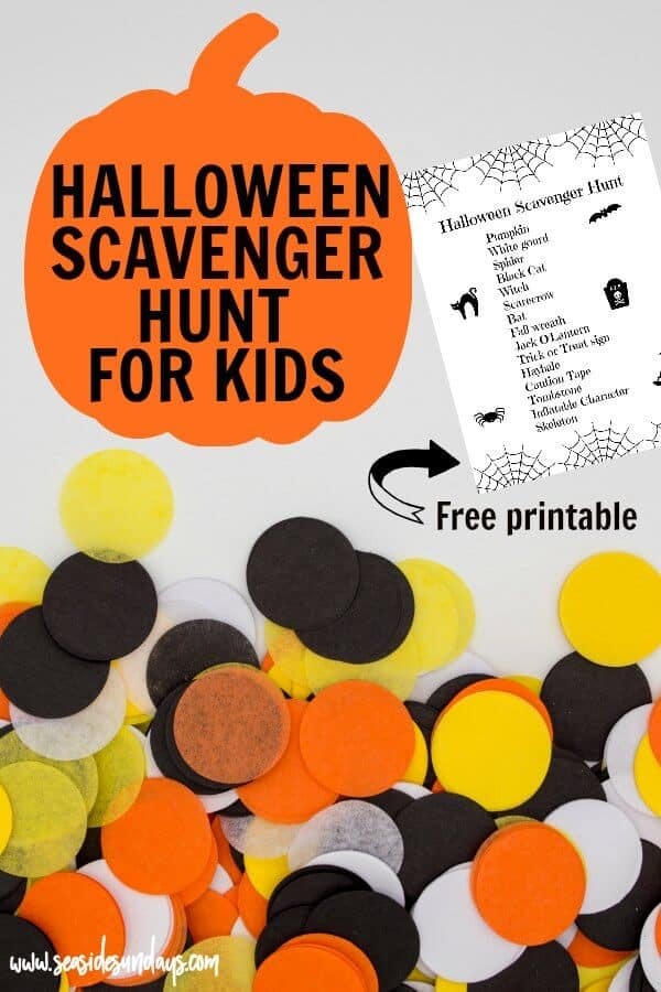 Halloween Scavenger hunt for kids. If you are looking for Halloween ideas for kids to do, this is a great Halloween activity for kids! Find out what you need and download our free printable Halloween treasure hunt. Get the kids dressed up in their Halloween costumes and go on a Halloween stroll. This is a great Halloween activity for daycares and scout groups.