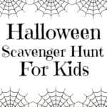 Free Printable Halloween Scavenger Hunt for Kids