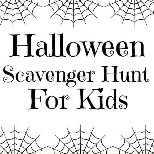 Fun Halloween scavenger hunt with free printable. Great Halloween party game or for trick or treating. This scavenger hunt is great for older kids or younger children as you can modify it to suit the ages and number of kids. Children will love running around the neighborhood looking at the Halloween decorations and displays. This is a fun outdoor activity for fall. #halloweenparty #halloween #partygames