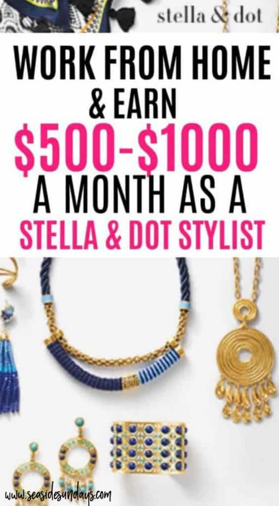 Become a Stella & Dot stylist and make money from home while selling products you love. Stella & Dot is a great side hustle for moms who love fashion!