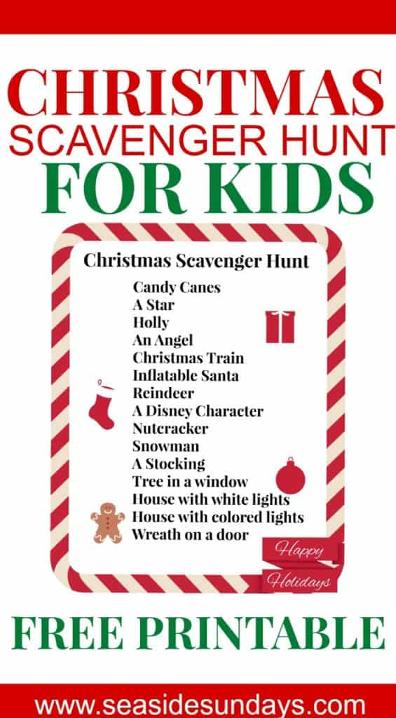 graphic regarding Christmas Scavenger Hunt Printable Clues called No cost Printable Xmas Scavenger Hunt for Young children