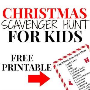 Free Printable Christmas Scavenger Hunt for Kids