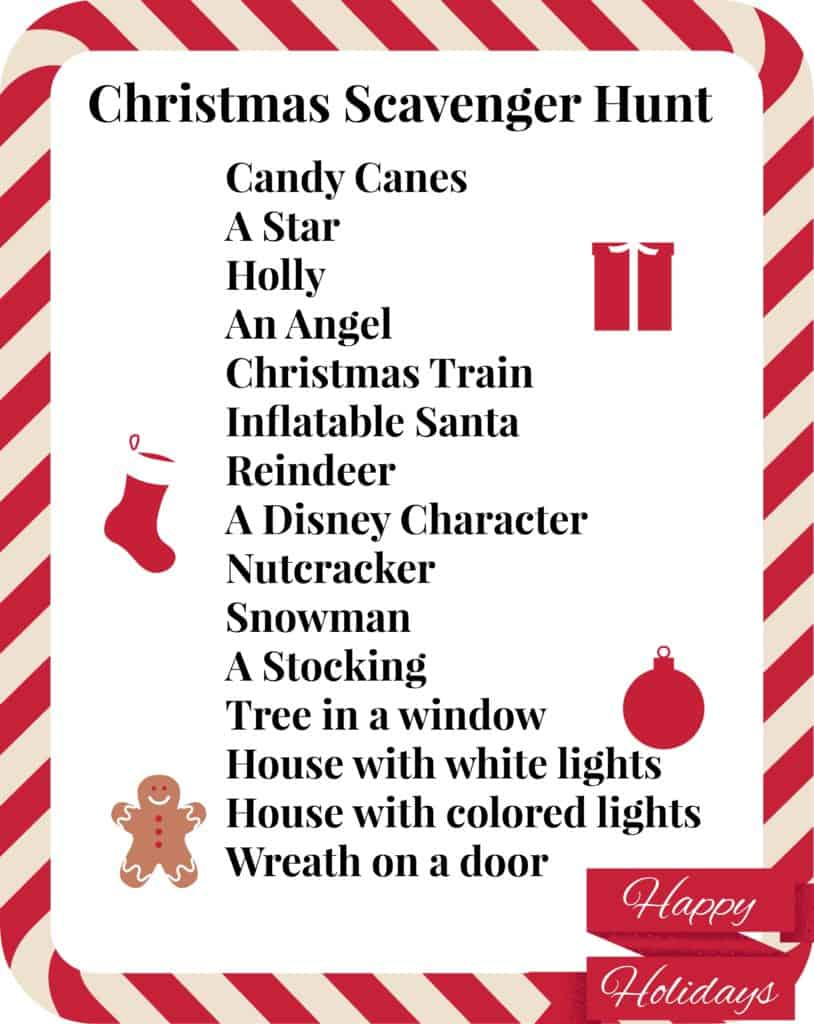 photo about Christmas Scavenger Hunt Printable Clues referred to as Absolutely free Printable Xmas Scavenger Hunt for Young children