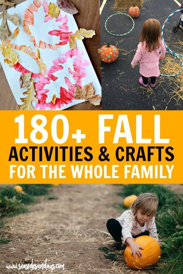 180 Fall Activities For Kids Crafts Bucket Lists Scavenger