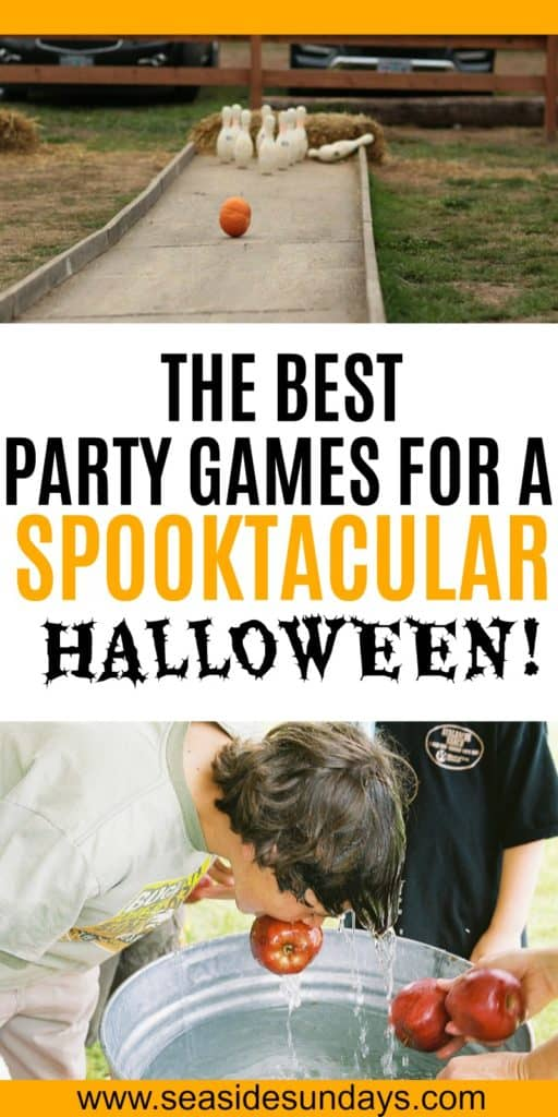 Great Halloween party games for kids. These are fun fall and Halloween themed activities for kids to do with friends or family. These Halloween games are suitable for young children or older kids in a group. These activities are cheap to play and are a lot of fun for children as Halloween approaches. #halloweenparty #trickortreat #halloween