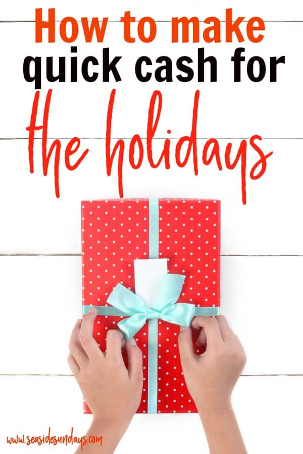 Make money for Christmas with these side hustle ideas! You can make cash fast in time for Christmas with these money making tips! Get money saving tips to start the new year off debt free too! You can make money online or in your neighbourhood easily. Christmas Side Hustle Ideas | Earn Extra Money | Make Money from Home