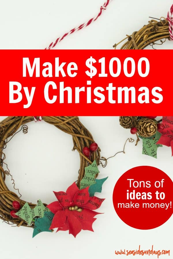 Earn extra money in time for the holidays! Need some Christmas spending cash? Make money for Christmas with these side hustle ideas! You can make cash fast in time for Christmas with these money making tips! Get money saving tips to start the new year off debt free too! You can make money online or eve make money from home