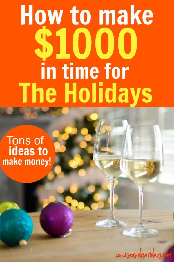 Earn extra money in time for the holidays! Need some Christmas spending cash? Make money for Christmas with these side hustle ideas! You can make cash fast in time for Christmas with these money making tips! Get money saving tips to start the new year off debt free too! You can make money online or in your neighbourhood easily.