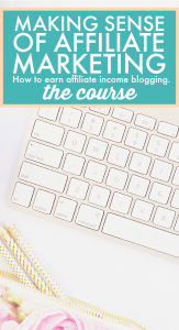 Do you want to monetize your blog? If you want to make money blogging, this course will get your started. #makemoneyblogging #affiliatemarketing #passiveincome