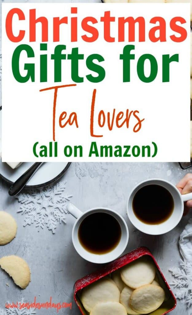 Gift ideas for people who love tea! If you are want to make a tea lover gift basket or are looking for the best Christmas gifts for a tea aficionado, check out this list of 21 perfect Christmas gifts for tea lovers. Tea mug gift ideas, tea sampler boxes, tea kettles and more - all the gift ideas in this list are available on Amazon!