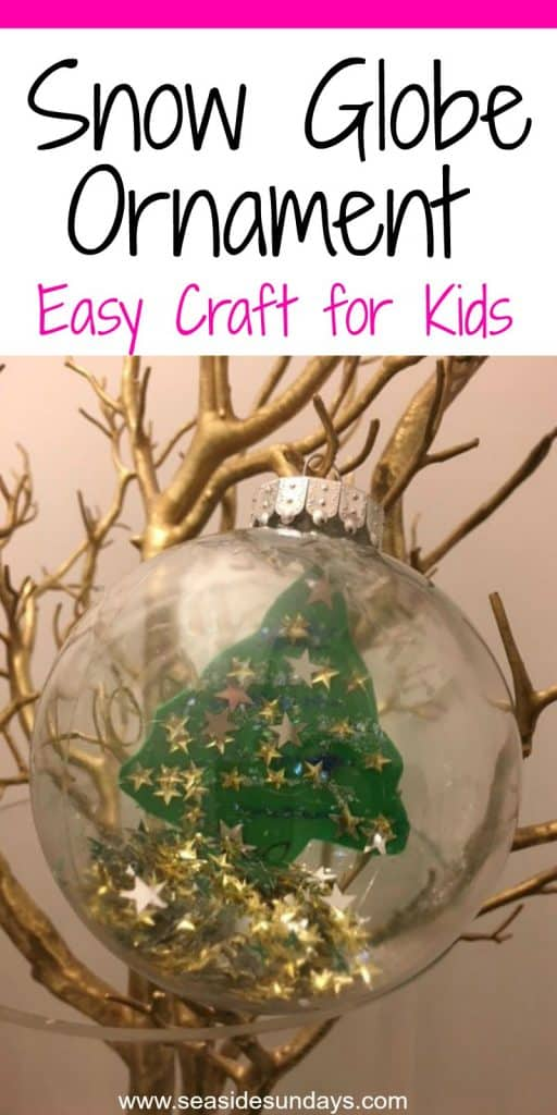 How To Make An Easy Snow Globe Ornament