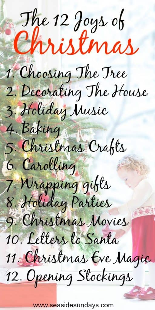 Christmas Traditions for kids. Holiday Bucket list of fun family activities.