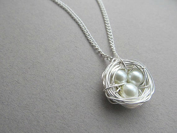 new mom gifts bird nest necklace