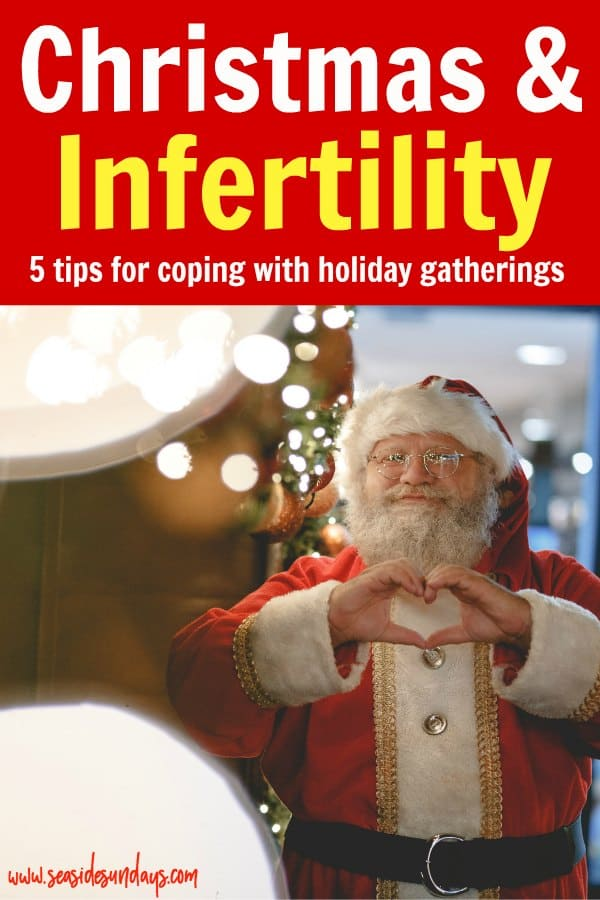 Infertility at Christmas. Tips for surviving the holidays with infertility. Get through Christmas while going through fertility treatments with these tips. fertilitytips|christmas |holidays |infertility|ivf