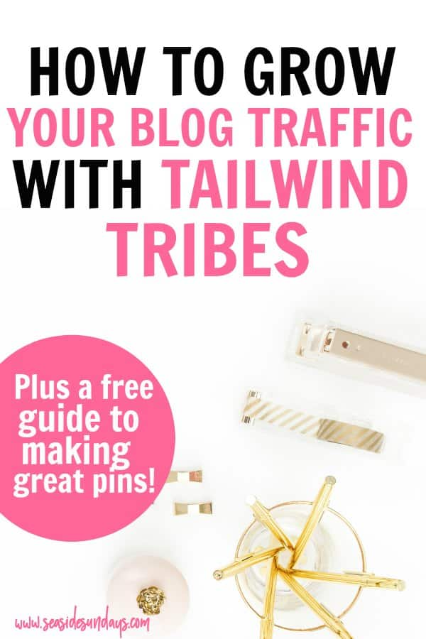 How to use Tailwind Tribes to grow your blog traffic. Tailwind Tribes are an awesome tool for boosting your blog traffic and promoting your pins. This step by step tutorial will show you how to find tailwind tribes, how to use them and how to add your own pins to a tribe. Also learn my strategy for spending less time on Tailwind while getting more traffic