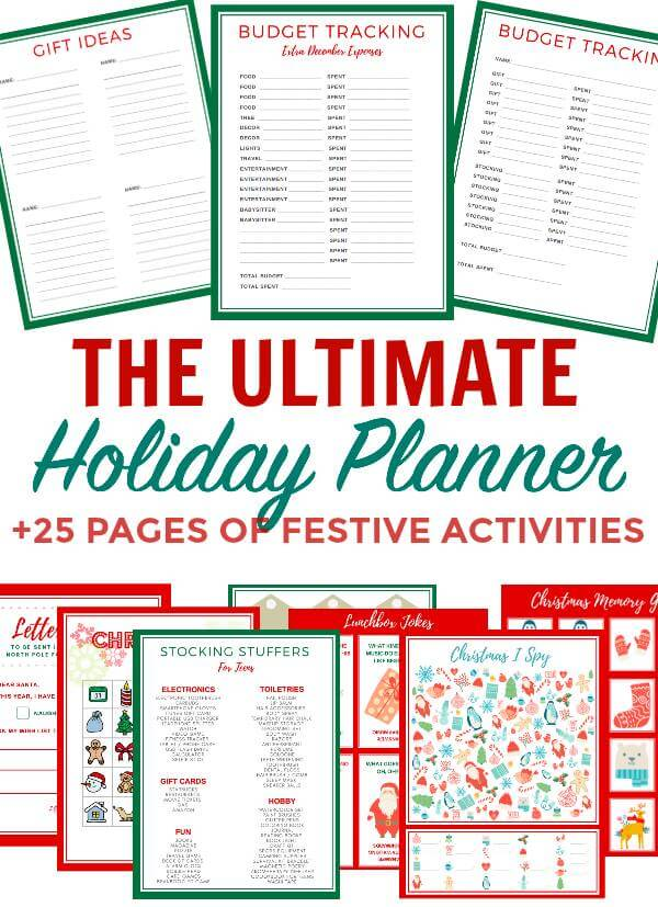 Make the Holidays less stressful with the Ultimate Holiday Planner that will see you through #Thanksgiving, #Christmas and the #Newy Year!. How to stay organized in the holidays. #Christmas 2017