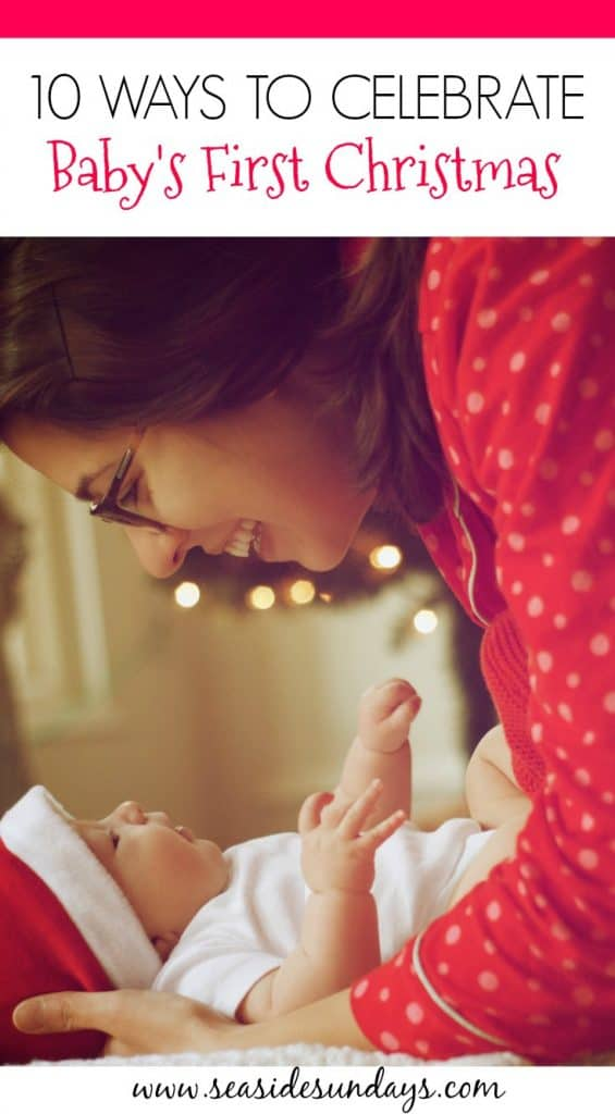 Baby's first Christmas traditions. This bucket list for baby's first #Christmas is filled with fun ideas and activities to help celebrate the holidays.