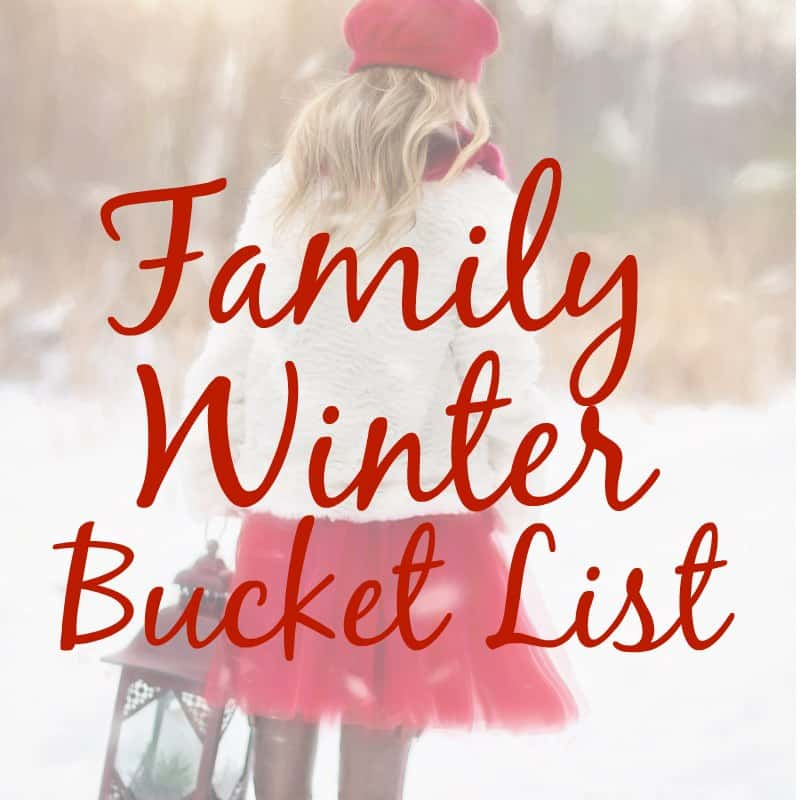 winter bucket list for families. Have fun in the snow with this list of family activities.
