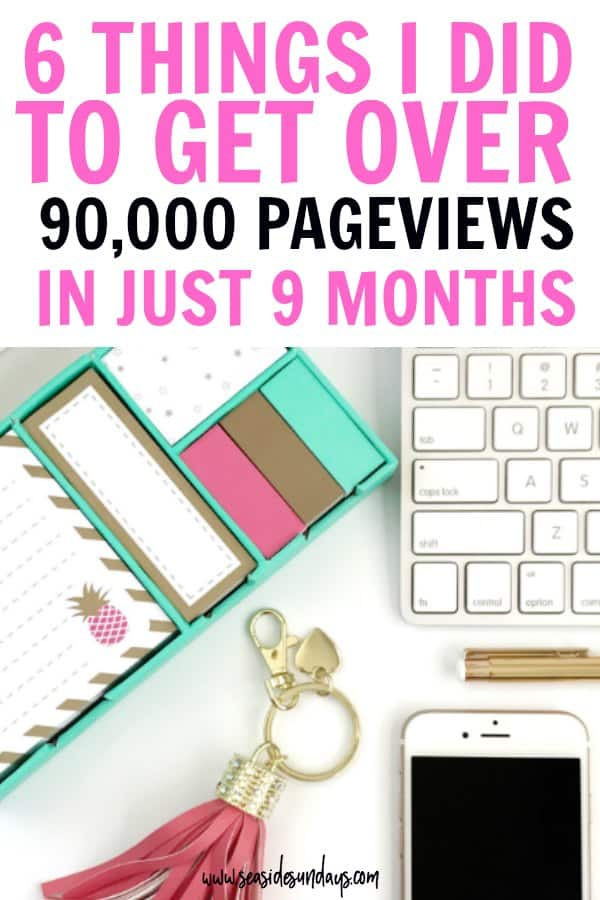 Blog traffic report! This blog report shows you exactly how I grew my blog traffic from 0 to 90,000 page views in just 9 months. Lots of blogging tips for new bloggers and anyone who wants to get more traffic to their website. #bloggingtips #blogging #blogincomereport #blog #blogger