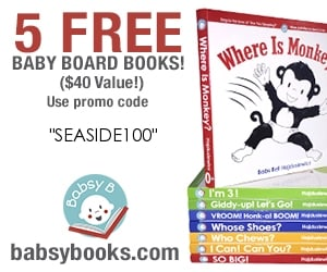 Canadian baby freebies -free baby stuff for 2019- use code SEASIDE100 for 5 FREE Baby board books.