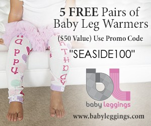 Canadian baby freebies - free baby stuff for 2019- use code SEASIDE100 for 5 FREE pairs of baby leg warmers