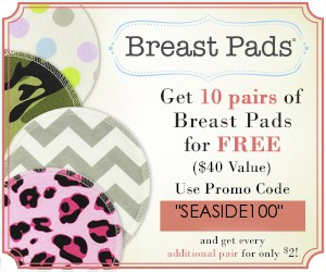 Canadian baby freebies- free baby stuff for 2019- use code SEASIDE100 for 10 FREE pairs of breast pads.