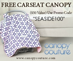 Canadian baby freebies -free baby stuff for 2019- use code SEASIDE100 for a FREE carseat canopy