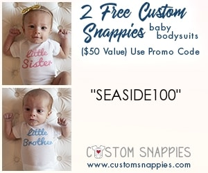 Canadian baby freebies - free baby stuff for 2019- use code SEASIDE100 for 2 FREE customized bodysuits