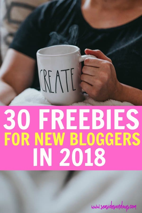 Free stuff for bloggers! Tons of blogging freebies like free stock photos, free WordPress themes, free fonts and free blogging courses. These really helped me grow my blog traffic and make money blogging from the get-go