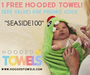 Canadian baby freebies - free baby stuff for 2019- use code SEASIDE100 for a FREE hooded towel.