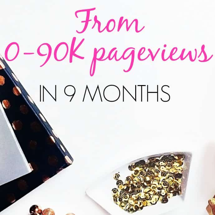 Tips and tricks for growing your blog traffic quickly, even as a new blogger. This is an awesome successful story of a blogger who got to almost 100K pageviews in under a year!