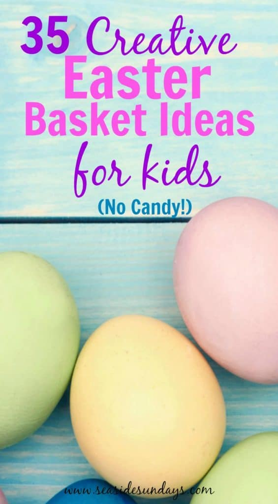 Easter basket ideas for kids. These are great basket stuffers that are not candy. If you want to give your kids something a bit different for Easter this year, let the Easter bunny leave some of these great gift ideas