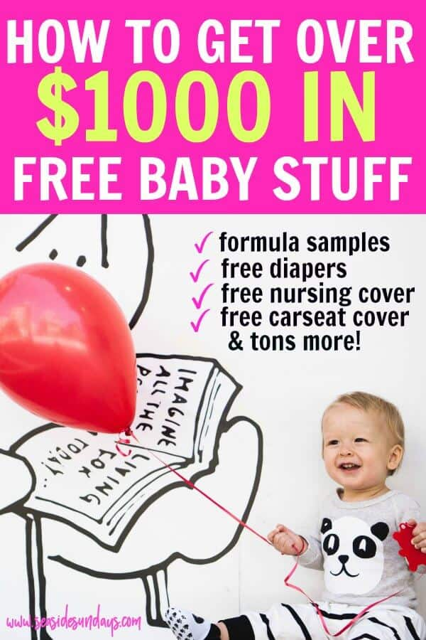 Free baby stuff for new & expecting moms! Get tons of baby freebies including formula samples, free diapers, free carseat cover and a free nursing cover. Over $1000 in free baby gear to help you have a baby on a budget.