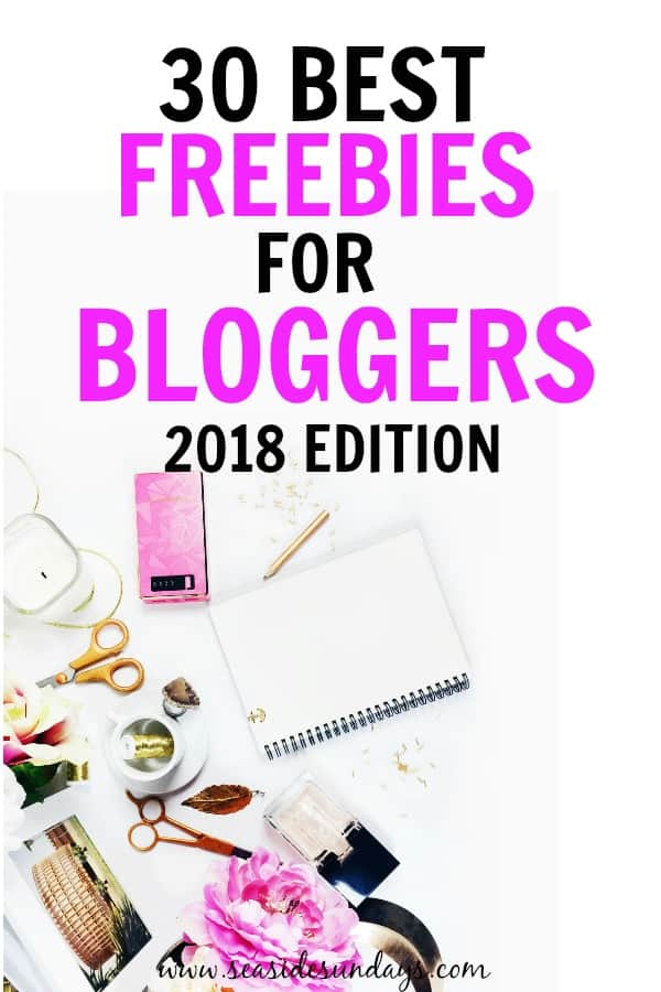 This is an AWESOME list of completely free stuff for bloggers! Tons of blogging freebies like free stock photos, free WordPress themes, free fonts and free blogging courses. These really helped me grow my blog traffic and make money blogging from the get-go.
